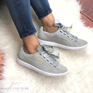 Puma Shoes - Puma Vikky Ribbon Classic Suede Grey 7 b110bf264